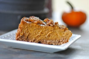 Marly's picture of gluten free vegan pumkin pie. Perfect for the holidays