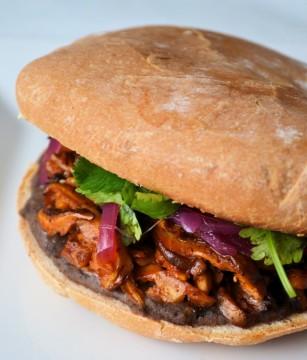Vegan pibil torta sandwich
