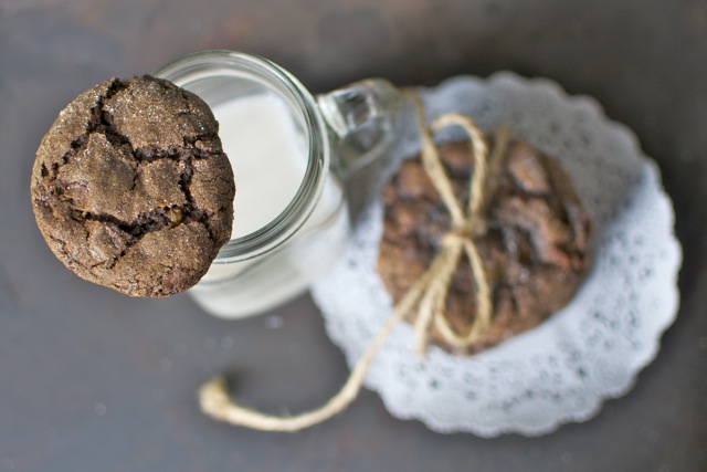 Chocolate Caramel Cookies with almond milk - a wonderful Friday afternoon treat.