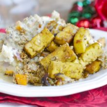 Vegan Holiday Casserole combines your favorite holiday dinner flavors.