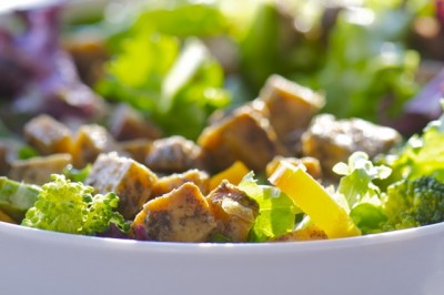 Baked Tofu adds a fabulous touch to this healthy salad