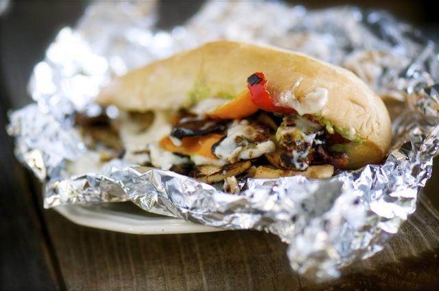 Namely Marly presents a vegan Philly Cheesesteak Recipe with slow-baked tofu and an avocado aioli.