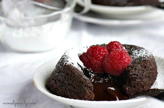 Vegan Gluten Free Molten Lava Cake