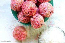 Raspberry and Coconut combine to make the perfect No-Bake Cookie!