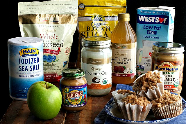 Apple Pie Muffins with organic and healthy Hain Celestial ingredients.