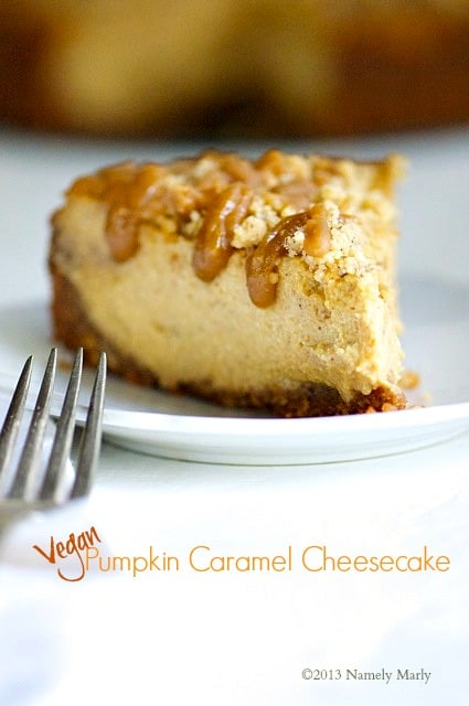 Vegan Pumpkin Caramel Cheesecake