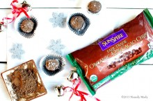 Chocolate Peppermint Truffles are made with Sunspire Organic Chocolate Chips