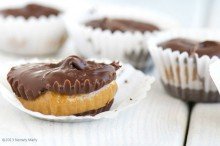The rich flavor of molasses comes through in these Peanut Butter Molasses Cups
