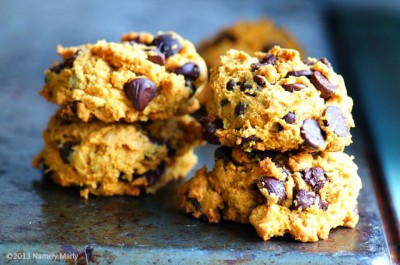 Orange Zested Pumpkin Chocolate Chip Cookies