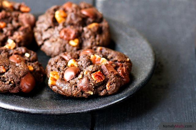 Double Chocolate Pecan Chip Cookies