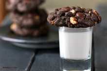 Double Chocolate Cookies with Pecans