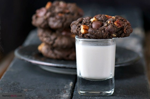 I'm loving these Double Chocolate Cookies with Chopped Pecans!