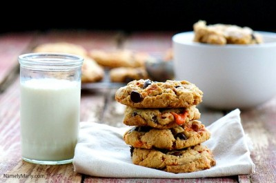Butterfinger Chocolate Chip Cookies