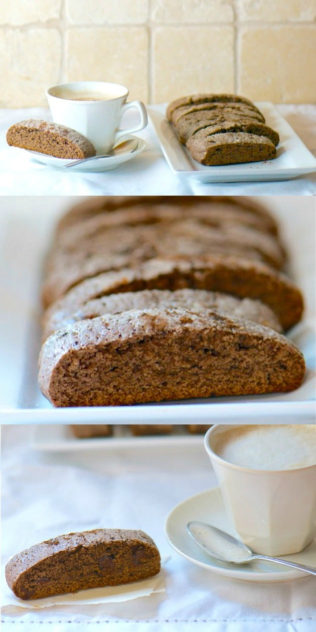 Double Chocolate Biscotti a great vegan breakfast