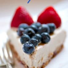 Vegan Red White and Blueberry Cheesecake | NamelyMarly.com