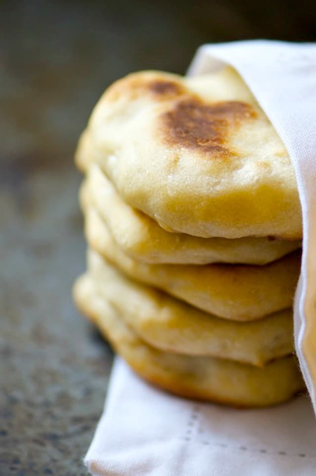 Oven-Baked Naan Bread - is easy to make and delicious to eat with soups, stews, salads, and lots of other things!