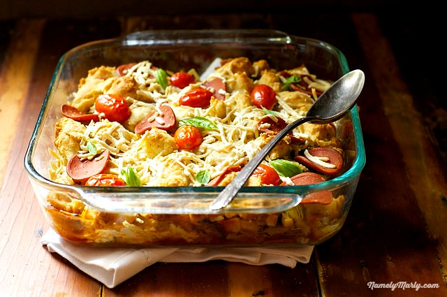 Vegan Pizza Pot Pie - a delicious weeknight meal
