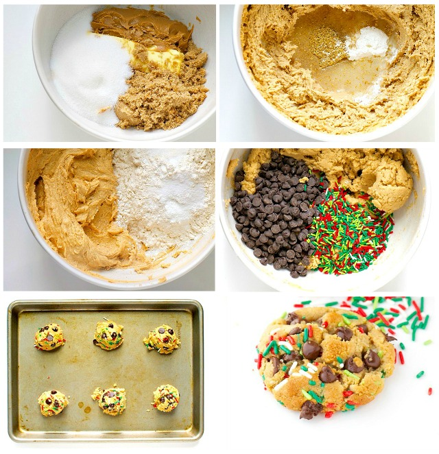 Christmas Sprinkle Cookies from beginning to end - delicious at every step!