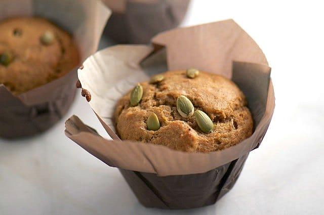 Chai Tea Muffins with Pumpkin Seeds