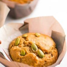 Chai Tea Spice Muffins with Pumpkin Seeds