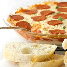 Vegan Pepperoni Pizza Dip - 20 minutes to make and only 7 ingredients!
