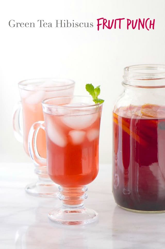 Green Tea Hibiscus Fruit Punch is loaded with healthiness, you'll feel so energized and refreshed with every glass!