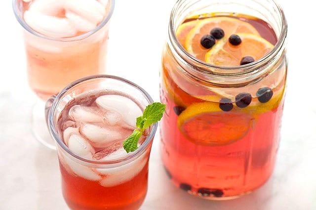 Green Tea Hibiscus Fruit Punch