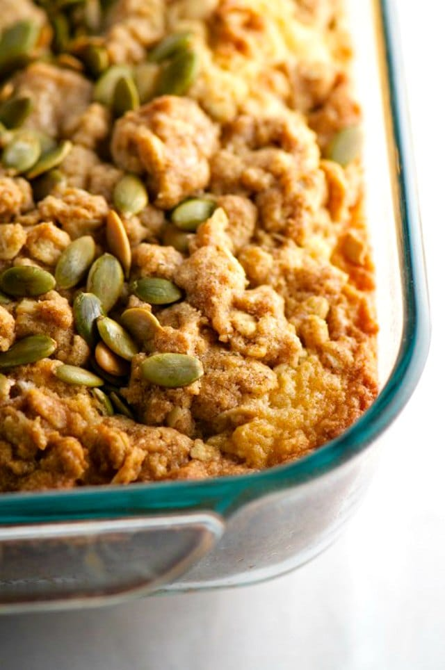 Pumpkin Seed Coffee Cake