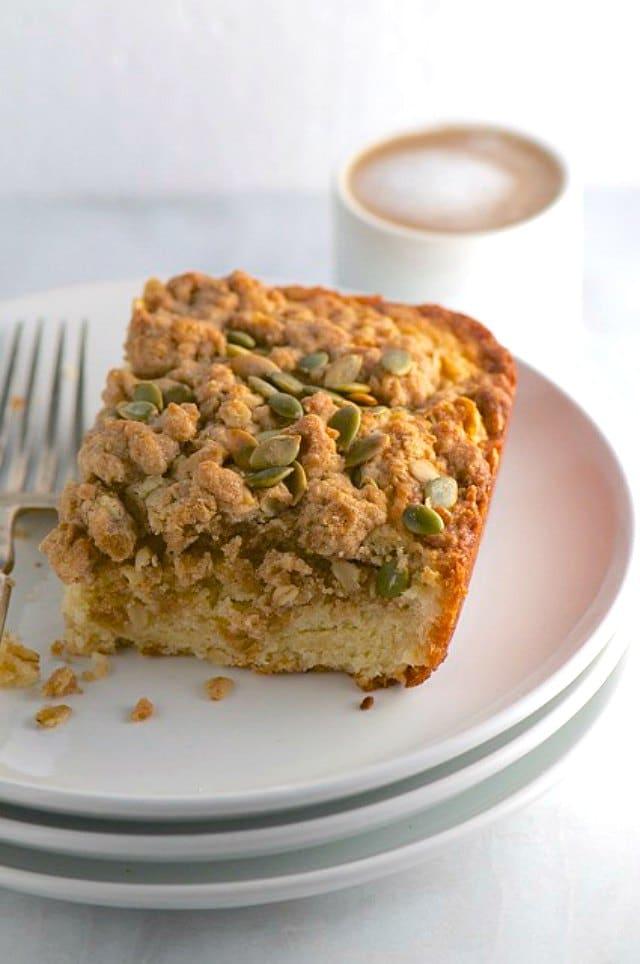 The Best Vegan Pumpkin Seed Coffee Cake