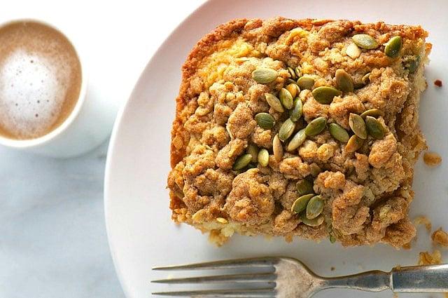 Pumpkin Seed Coffee Cake