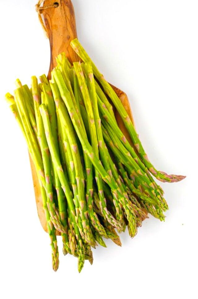 Asparagus is my favorite ingredient in these Quinoa Pesto Veggie Bowls