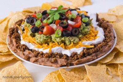 Vegan Seven-Layer Mexican Dip