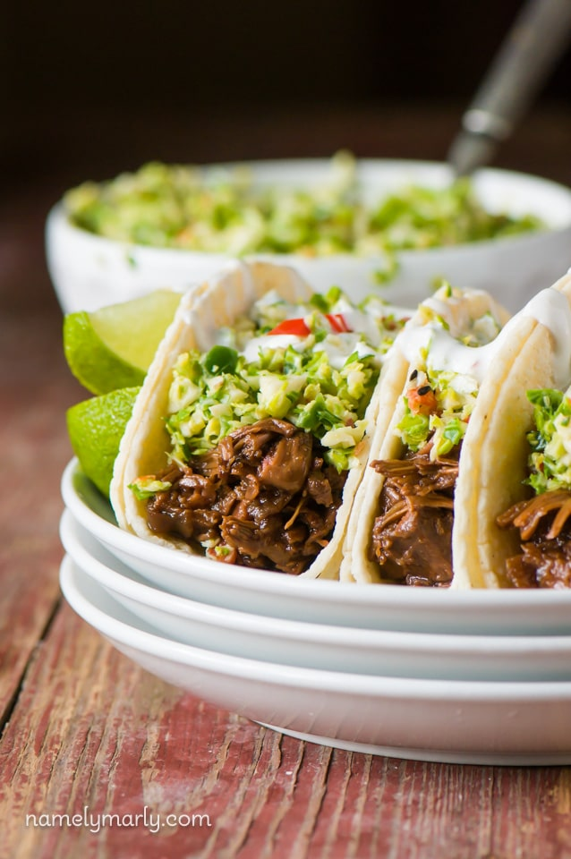 Bulgogi Jackfruit Street Tacos - a perfect combination of flavors that's so easy to make and a crowd pleaser!