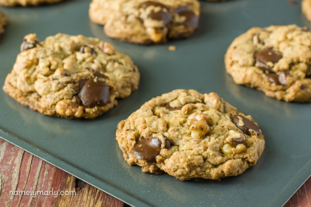 Hot out of the oven - Vegan Neiman Marcus Cookies with Chocolate Chips