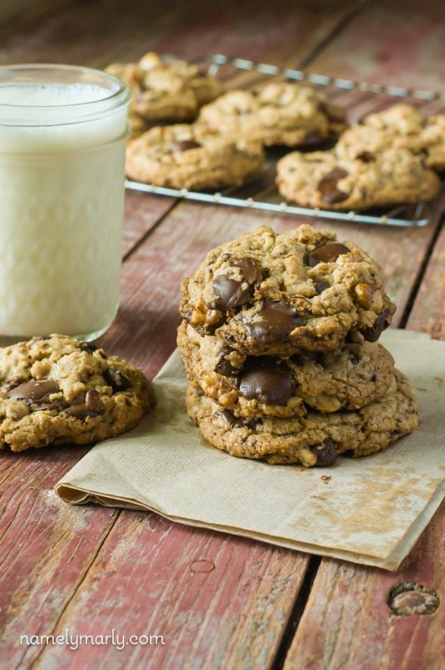 Vegan Neiman Marcus Cookies - lots of chocolate in every delicious bite!