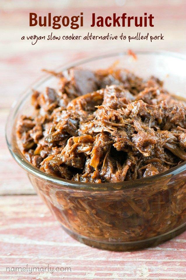 Crockpot Bulgogi Jackfruit A Meatless Vegan And Delicious Alternative To Pulled Pork
