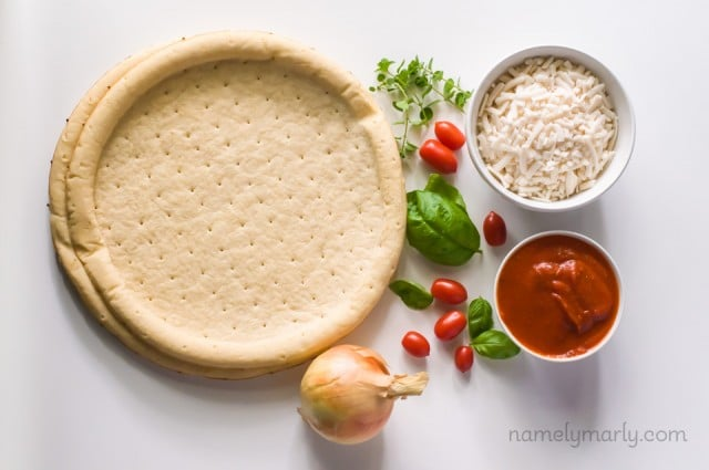 Two easy vegan pizzas for under $15