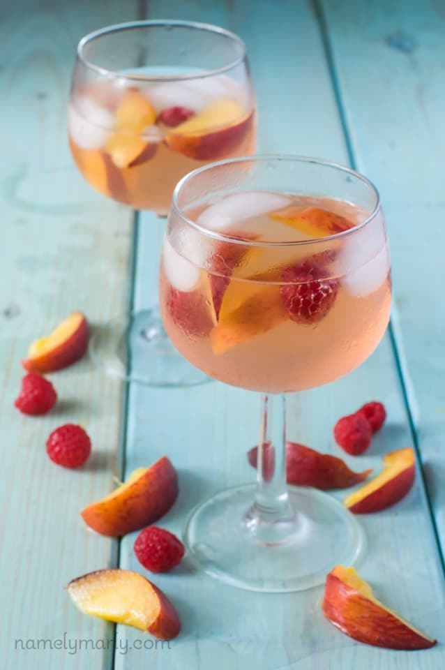 Summer Peach Sangria