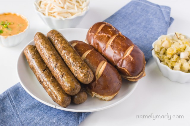 Vegan Reuben Brats - perfect for grilling or fixing any time of the year!