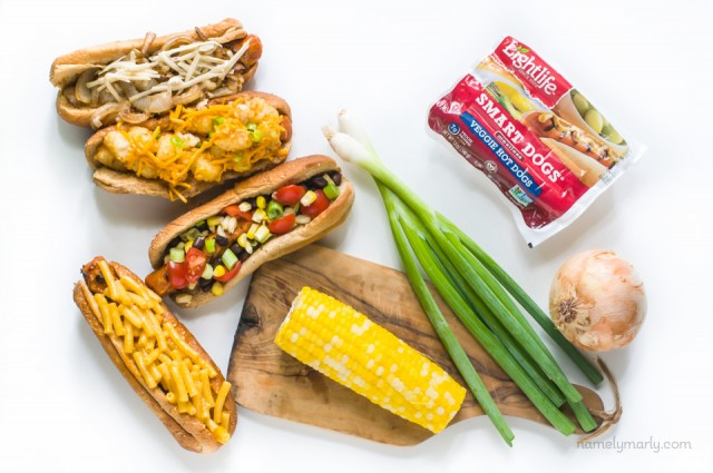 We love these Vegan Hot Dogs Done Four Ways