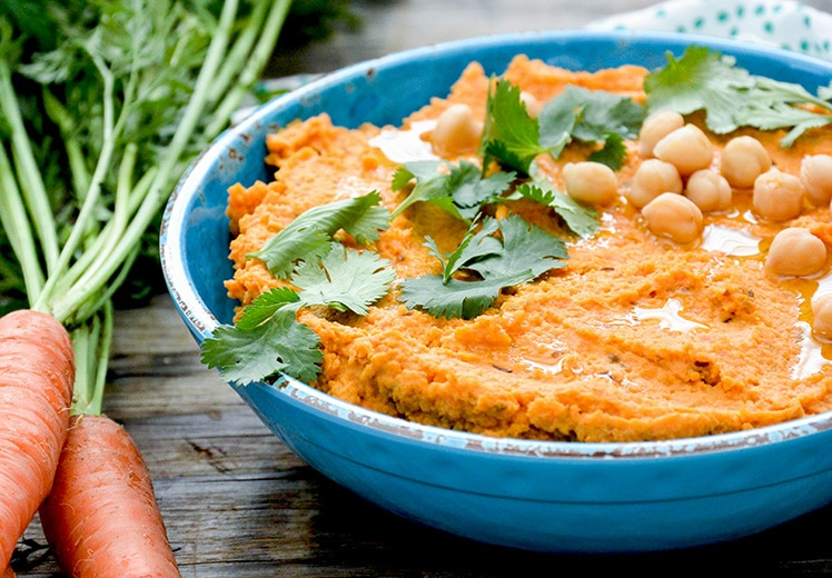 Spiced Roasted Carrot Hummus