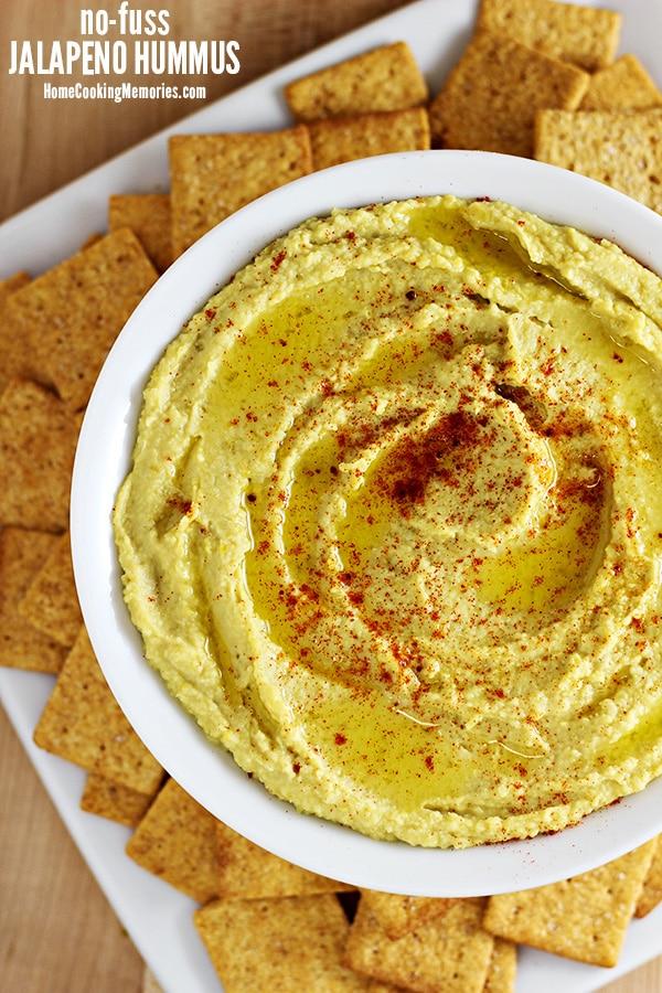No-Fuss Jalapeño Hummus