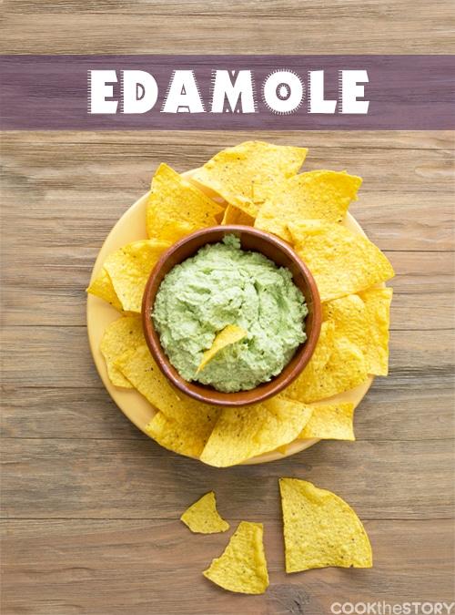 Edamole - a dip of edamame made guacamole style!