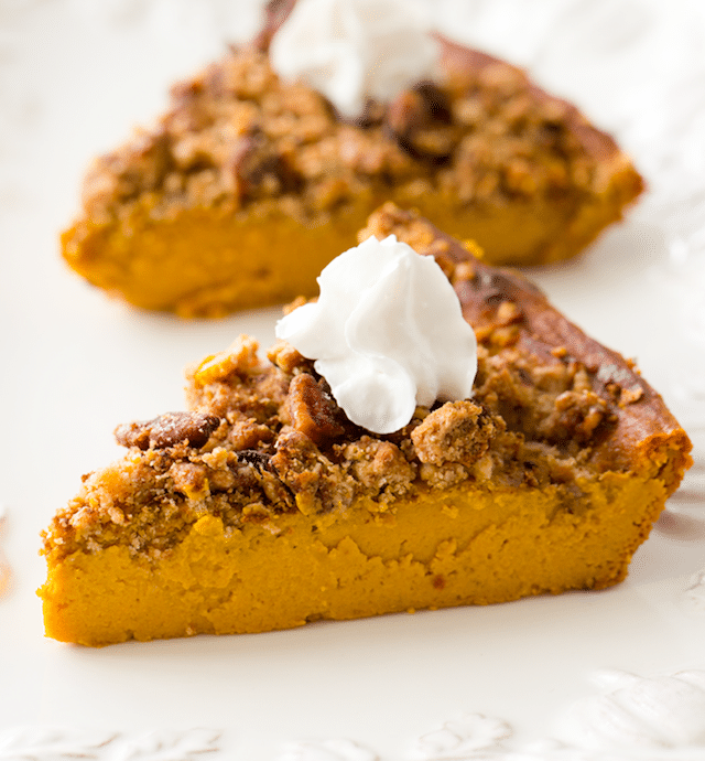 Vegan Crustless Pumpkin Pie