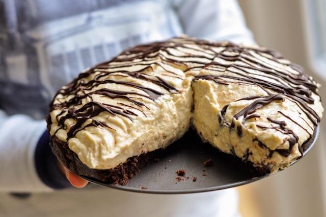 No-Bake Peanut Butter Mousse Pie