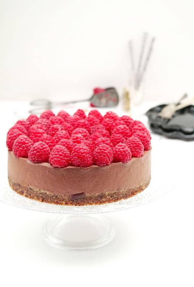 Raw Vegan Chocolate Cheesecake