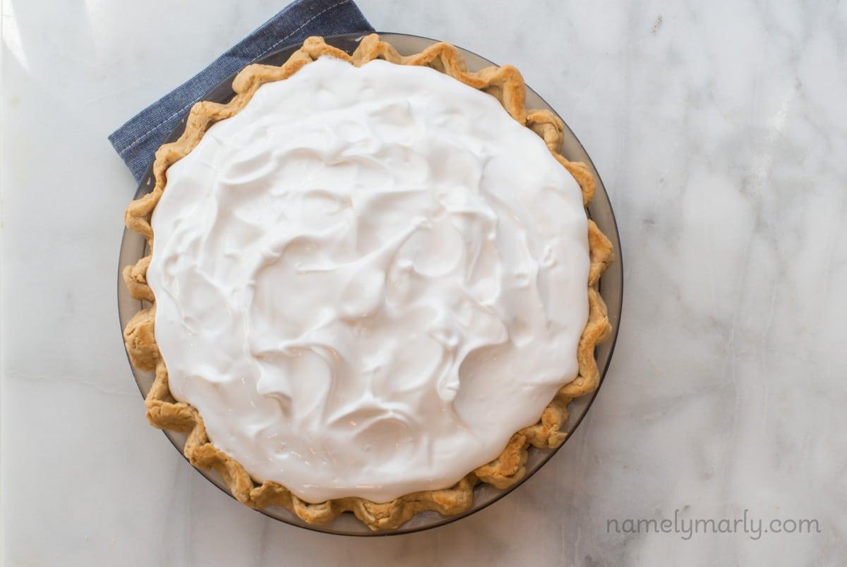 Making Vegan Coconut Meringue Pie