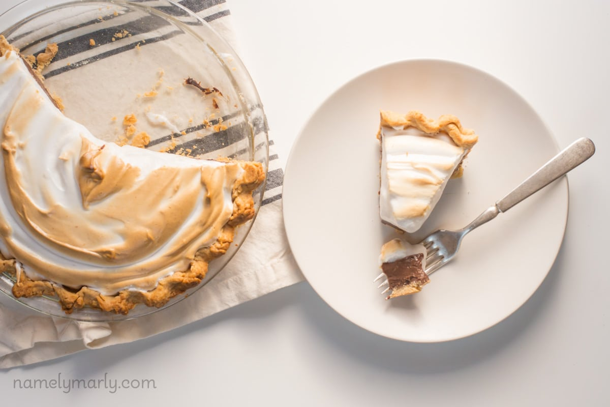 Vegan Chocolate Meringue Pie