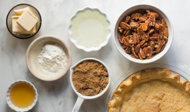 Ingredients for Vegan Pecan Pie for Vegan Pie Week