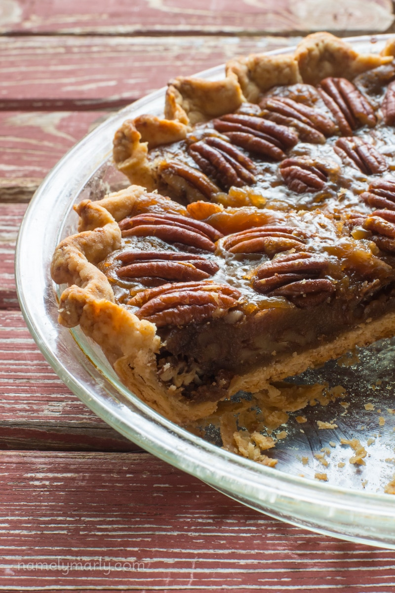 Vegan Pecan Pie with Flaky Whole Wheat Crust